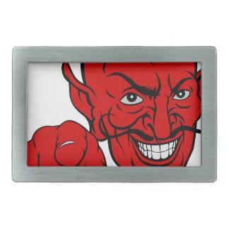Diabo que aponta o personagem de desenho animado