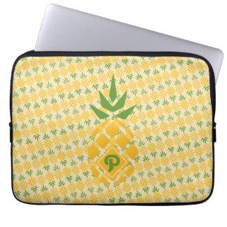 Diagonal personalizada do abacaxi capa de notebook