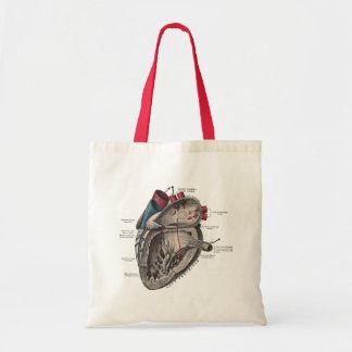 Diagrama anatômico do coração do vintage bolsa tote