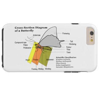 Diagrama de Lepidoptera de uma anatomia da Capa Tough Para iPhone 6 Plus