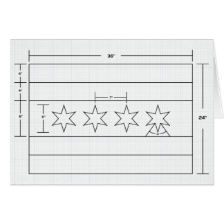 Diagrama esquemático do cartão da bandeira de
