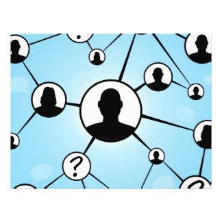 Diagrama social dos amigos dos meios modelo de panfletos