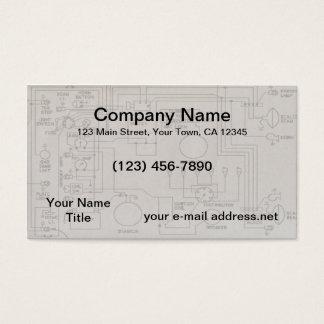Diagramas esquemáticos cartão de visitas