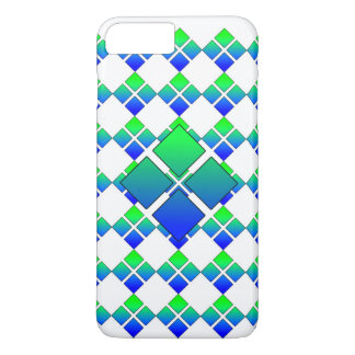 Diamante 3D do verde azul Capa iPhone 7 Plus