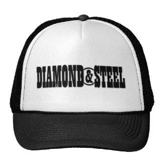 Diamante & aço - chapéu do camionista boné