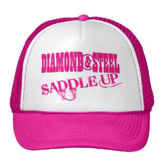 Diamante & aço - chapéu do camionista das senhoras boné