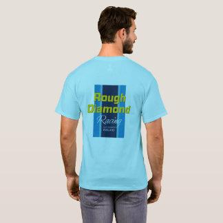 Diamante áspero que compete a camisa de T - azul