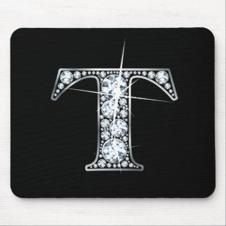 """Diamante Bling Mousepad de """"T"""""""