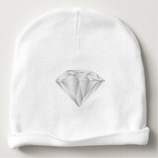 Diamante branco para meu querido gorro para bebê