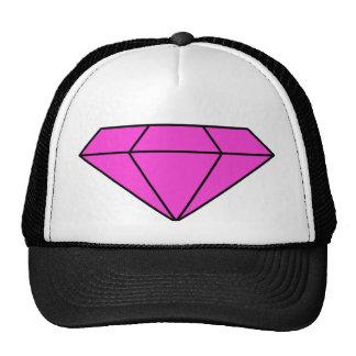 Diamante cor-de-rosa boné