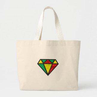 Diamante da reggae bolsa tote grande