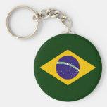 Diamante de Brasil - emblema da bandeira brasileir Chaveiro