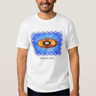 Diamante do fogo camiseta