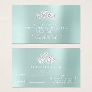 Diamante Lotus do Aqua de Tiffany do cartão da