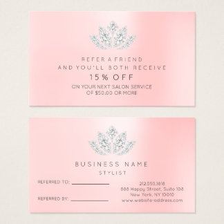 Diamante Lotus do VIP do rosa da prata do cartão