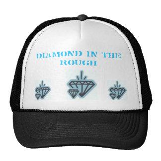 Diamante no áspero boné