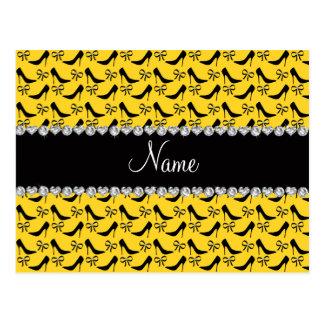 Diamante preto amarelo conhecido feito sob cartão postal