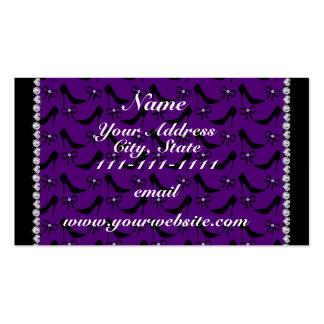 Diamante preto roxo conhecido feito sob encomenda cartão de visita