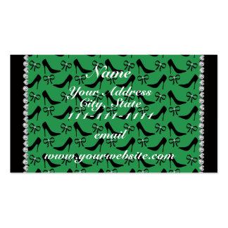 Diamante preto verde conhecido feito sob encomenda cartão de visita