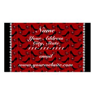 Diamante preto vermelho conhecido feito sob cartão de visita