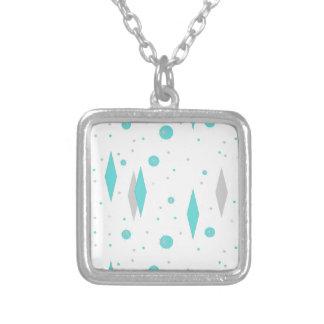 Diamante retro de turquesa & colar de Starburst