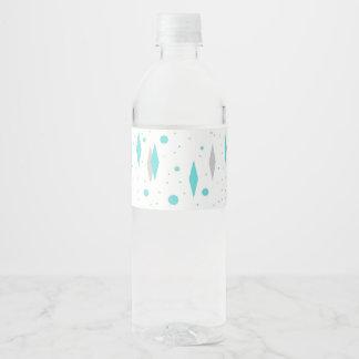 Diamante retro de turquesa & etiqueta da garrafa