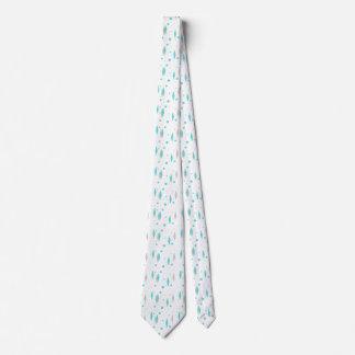 Diamante retro de turquesa & gravata de Starburst