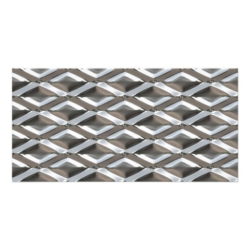 Diamante sem emenda metal chapeado cromo dado form cartões com fotos