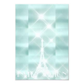 Diamante Sparkly de Tiffany das estrelas de Paris Convite 8.89 X 12.7cm