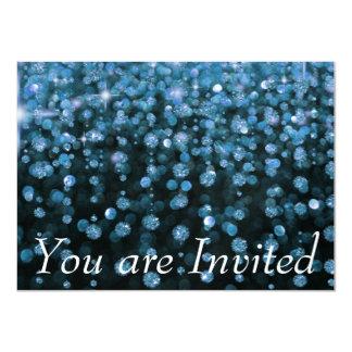 Diamantes azuis do brilho convite 11.30 x 15.87cm