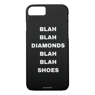 diamantes blás blás dos calçados capa iPhone 7