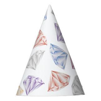 Diamantes coloridos para meu querido chapéu de festa