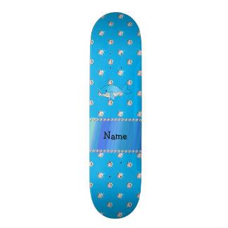 Diamantes conhecidos personalizados do azul da bal shape de skate 18,4cm