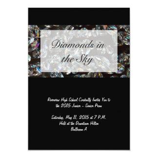 Diamantes - convites do baile de formatura de