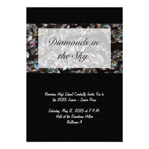 Diamantes - convites do baile de formatura de Blin