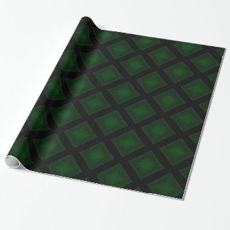 Diamantes de veludo (verde) papel de presente