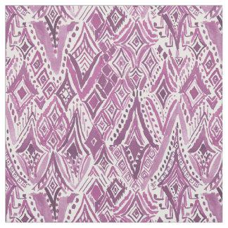 DIAMANTES ESPIRITUAIS Ikat tribal roxo de FRIGGIN Tecido