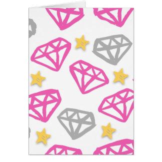 Diamantes & estrelas cartão