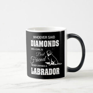 Diamantes Labrador preto/branco caneca Morphing de