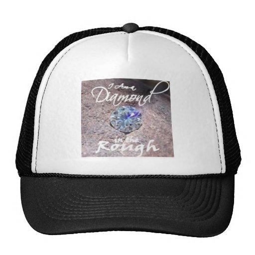 Diamantes no áspero bonés