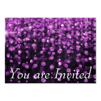 Diamantes roxos do brilho convites