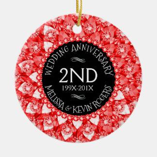 diamantes vermelhos e preto do aniversário de ornamento de cerâmica