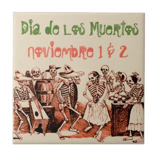 Diâmetro de Los Muertos Dia do azulejo inoperante