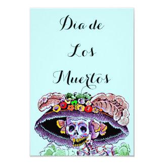 Diâmetro de Los Muertos Dia do Catrina inoperante Convite 8.89 X 12.7cm