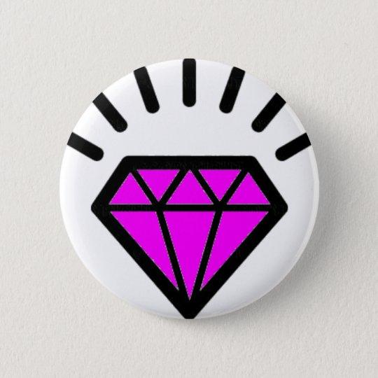 diamond-pink bóton redondo 5.08cm
