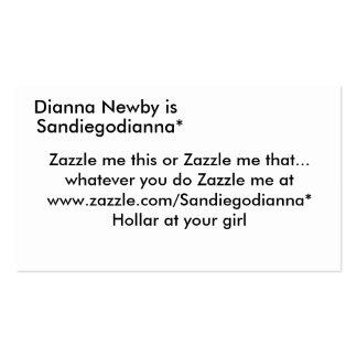 Dianna Newby é, Sandiegodianna*, Zazzle mim thi… Cartão De Visita