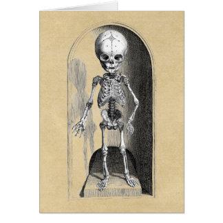 Dianteiro de esqueleto/traseiro infantis cartão comemorativo