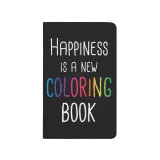 Diário A felicidade é um livro para colorir novo