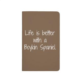 Diário A vida é melhor caderno de bolso