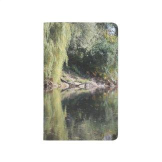 Diário Árvores de salgueiro refletidas no rio
